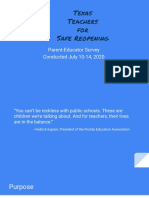 Texas Teachers for Safe Reopening survey data