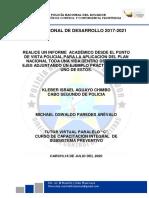 TAREA UNO PLAN  NACIONAL DE DESARROLLO 2017-2021 TODA UNA VIDA