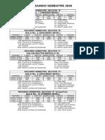 HORARIOS SEGUNDO SEMESTRE 2020 (2)