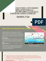 SESION N°24 - PROCESO DE FUSIÓN, CONVERSIÓN Y COPELACIÓN PARA LA OBTENCIÓN DEL ORO Y LA PLATA A PARTIR DE LODOS ANÓDICOS