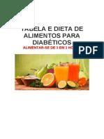 Tabela de dieta para diabéticos