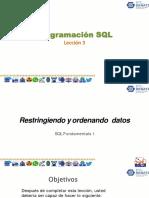 Leccion03 - Restringiendo y ordenando datos