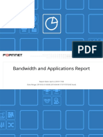 Bandwidth and applications report