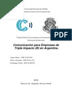 TESIS Comunicación en Empresas de Triple Impacto