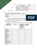 5 TALLER METODOS DE CONSERVACIÓN DE ALIMENTOS 2