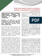 Boletín- Ampliación del  Fuero Paternal