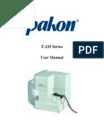 User manual Pakon  F-235