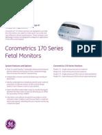 Monitor Fetal Ge Corometrics Series 170