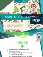 MODELO DE LOTE OPTIMO