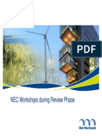 NEC Workshops during Review Phase