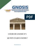 Cours de Gnosis - Leçon 1