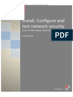 Configure and test network security