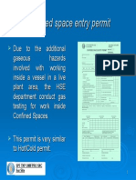 Confined space permit