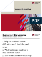Strategies for Teaching academic reading pdf