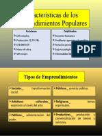 Características de los Emprendimientos Populares uni 6