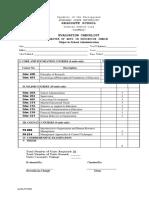 MAED & MST Evaluation Checklist