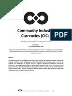 Community Inclusion Currencies