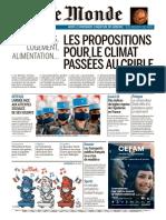 Journal LE MONDE du Mardi 14 et Mercredi 15 Juillet 2020