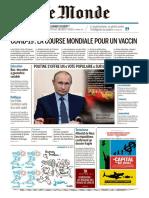 Journal LE MONDE du Jeudi 25 Juin 2020
