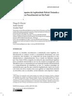 Oliveira et al. - 2020 - Preditores e Impactos da Legitimidade Policial Testando a Teoria da Justeza Procedimental em São Paulo