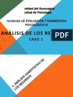 Analisis de los recursos del Rorschach, caso clinico
