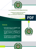 SOCIALIZACIÓN ACTOS ADMINISTRATIVOS PROGRAMA DE GESTION DOCUMETAL DE LA POLICIA.pptx