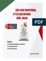 Presentación RVM 133 2020 MINEDU