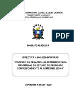 Directiva N° 01-2020-Desarrollo Semestre 2020-A - Versión 1 -ok