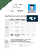 Razib Sarker CV