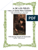 VIII Domingo Después de Pentecostes. Guía de los fieles para la santa misa cantada. Kyrial Orbis Factor