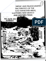 ADA278553 Soil-Geomorphic and Pa Leo Climatic Characteristics of the Fort Bliss Maneuver Areas, Southern New Mexico and Western Texas