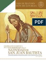 Subsidio - Solemnidad Natividad San Juan Bautista
