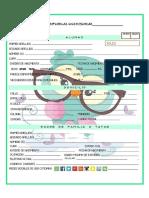 Fichas de inscripción 2020-2021