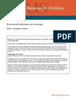 Sociology Personal Reflection PostPrint version April 2016