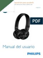 manual de usuario philips audifonos