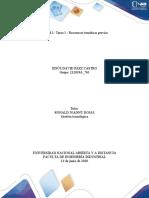Unidad 1- Tarea 1 - Reconocer temáticas previas