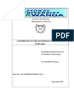 Contribution to the geothermal energy study in Rwanda
