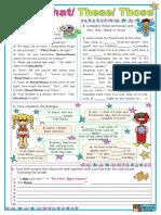 Worksheet English demonstratives