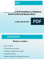 Presentación del Registro de Proveedores de la Provincia de Buenos Aires - Contaduría General 2020
