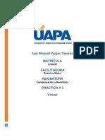 Tarea 3 compensación y beneficios Luis Vargas 170057