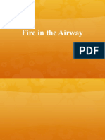 Fire in the airway