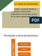 Percepción y toma de decisiones