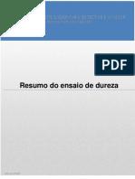 RESUMO DO ENSAIO DE DUREZA.