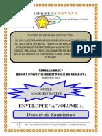 Dossier Administratif finalisé  pour soumission forages Commune Maroua 2ème 2015