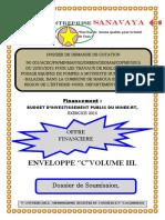 Dossier financier finalisé pour soumission forages de  Maroua 2ème 2015