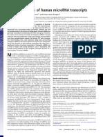 Genomic analysis of human microRNA transcripts