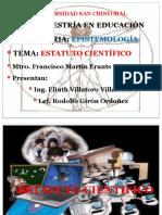 PRESENTACION ESTATUTO-CIENTIFICO Y CIENCIA.