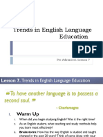 Lesson 7 - Trends in English Language Education