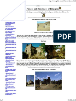 Imperial Palaces and Residences of Ethiopia