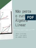Não perca o curso de Álgebra Linear